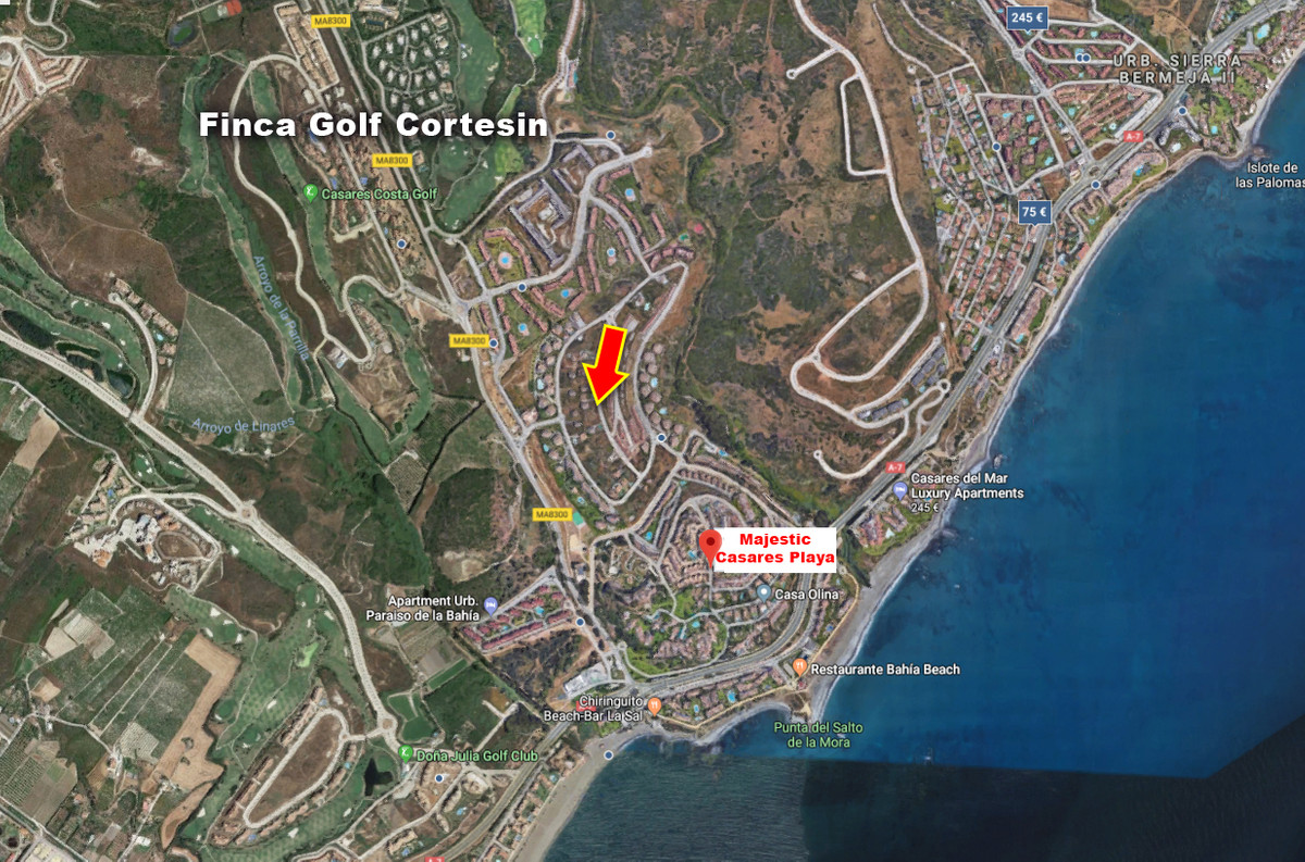 Residential building plot offering seaviews  situated in the prestigious urbanization Majestic Casar, Spain