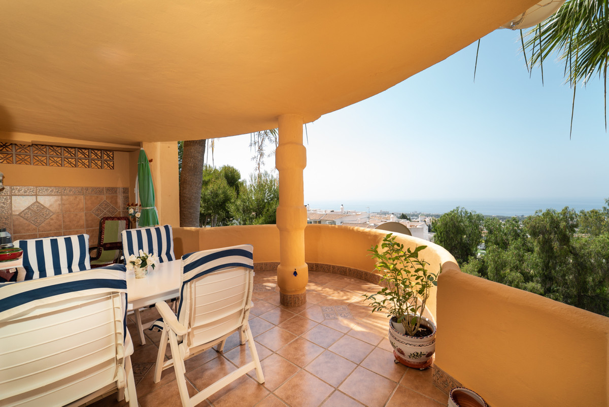 seaview elevated groundfloor apartment Calahonda, el Porton 7 in the most southern building of the c,Spain