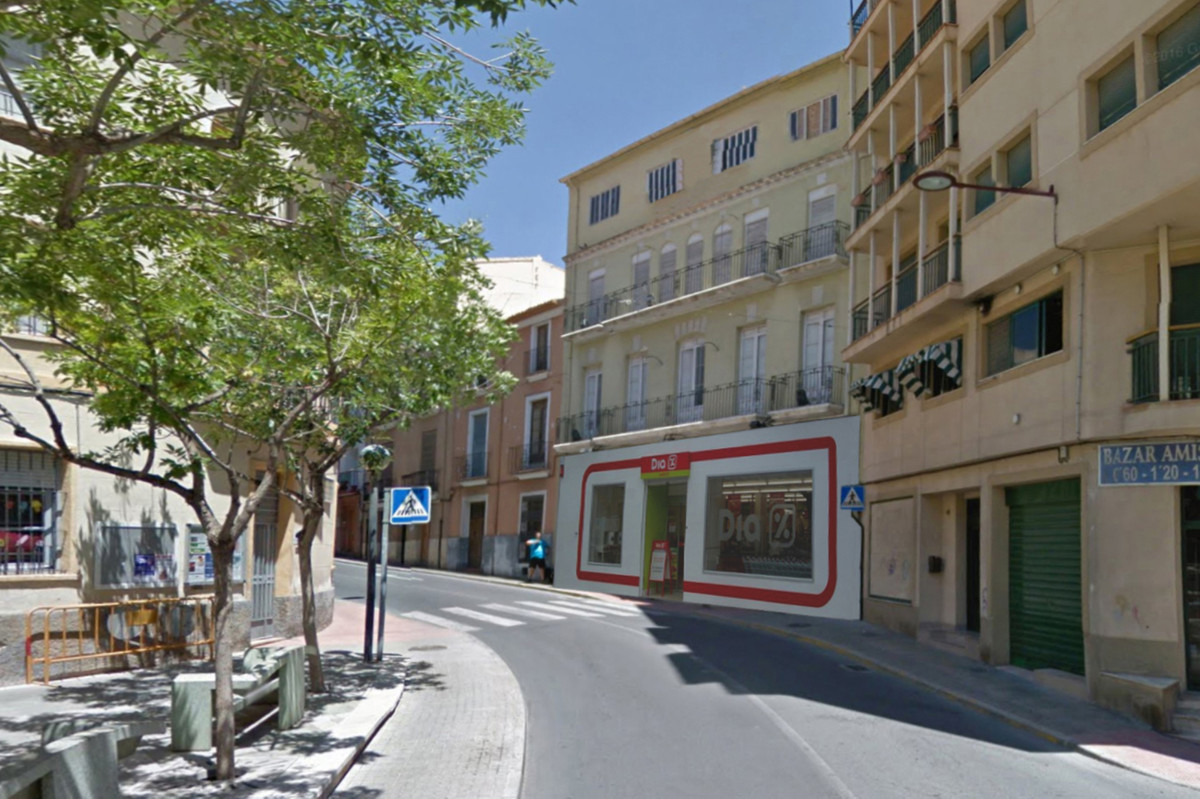 Building in the heart of Jijona. This old nougat factory is located on Calle del Vall, in the center,Spain
