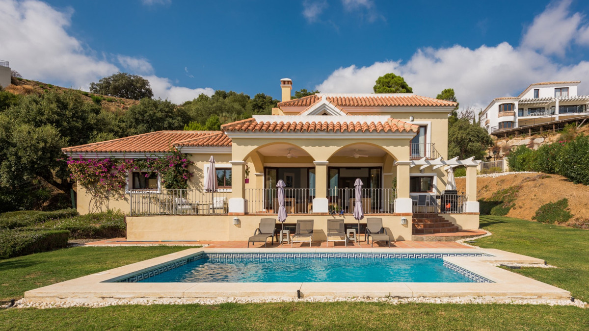 This Mediterranean style luxury villa offers fantastic views of the surrounding mountain landscape a,Spain