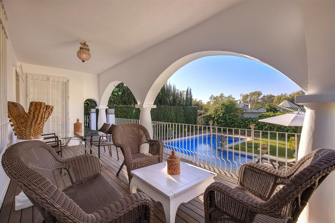 Charming independent villa with garden and pool, located in Urb. El Real. Panoramic views to the sym,Spain
