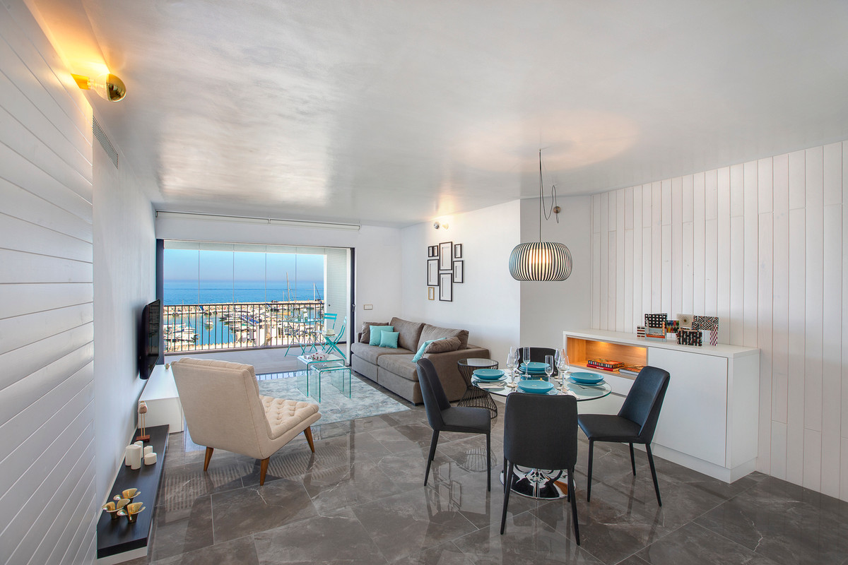 Luxury apartment with panoramic and frontal views of the Puerto Banus Marina. Fully renovated with t, Spain