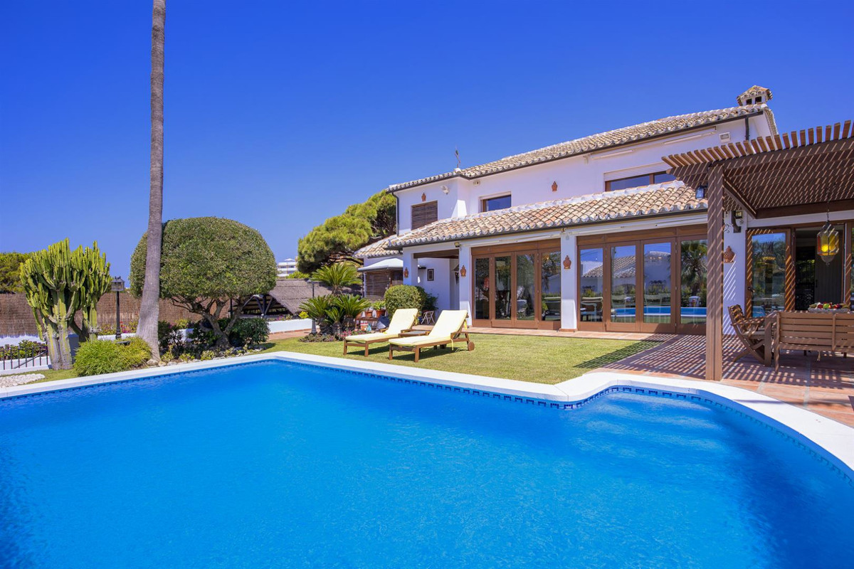 Charming beachside villa built to the highest standards and located in Marbesa, one of the most pres,Spain