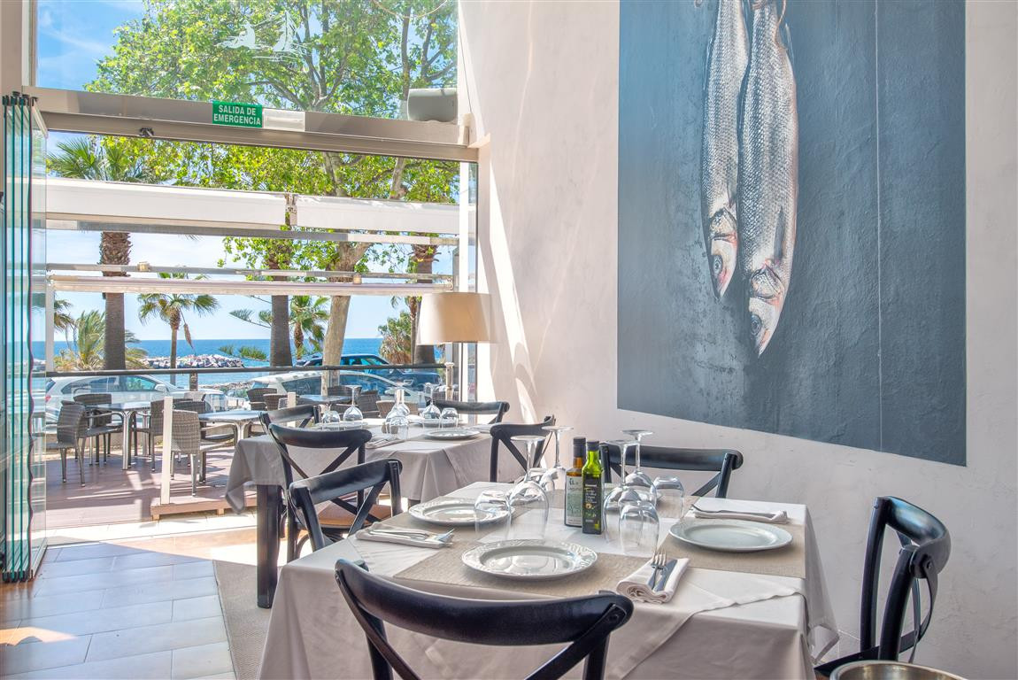 Stylish and spacious restaurant in one of the best locations in Marbella with panoramic sea views an, Spain