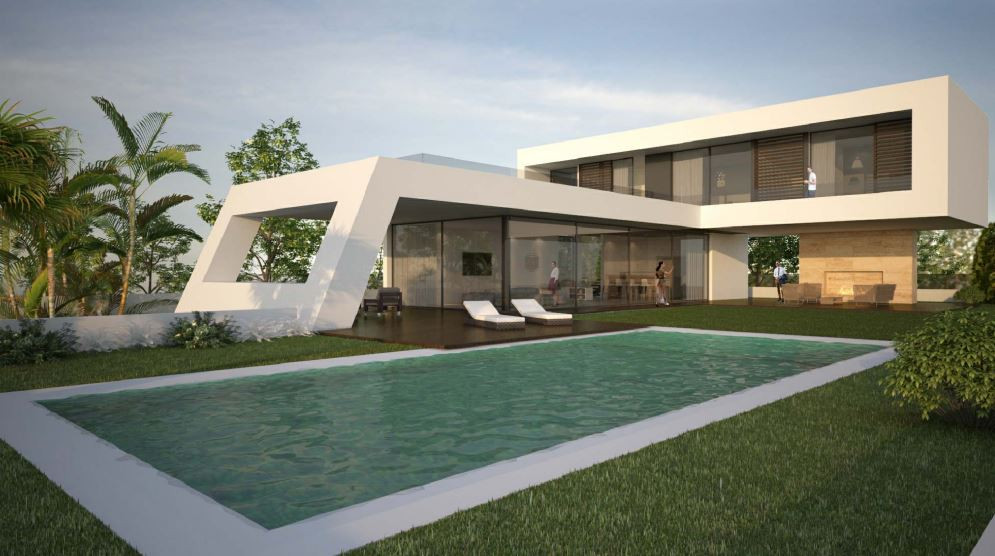 Fantastic modern villa under construction in the beautiful area of Lindavista, only 500 m far from t,Spain