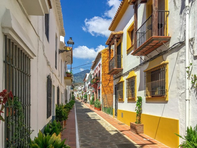 Marbella. Plot in the historical centre for the construction of two apartments and four parking spac,Spain
