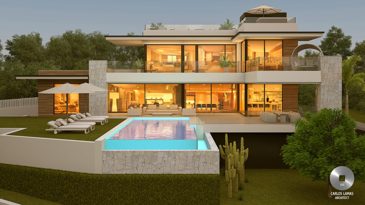 A stunning contemporary designed villa with spectacular views over Marbesa, Mediterranean Sea and mo,Spain