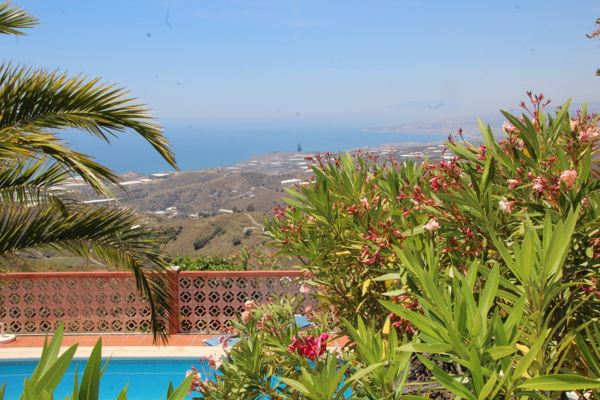 Sale, finca with Chalet/Villa, Torrox, Malaga, Andalusia  Panoramic view and clear view to the Medit, Spain