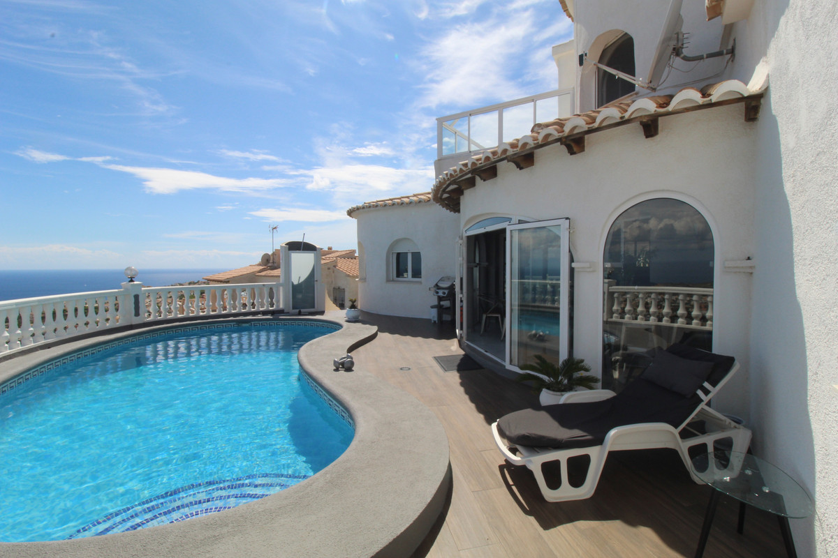 TOP 3 REASONS TO BUY  Panoramic sea views  Swimming pool  Spacious  Detached 3 Bedroom Villa with Po, Spain