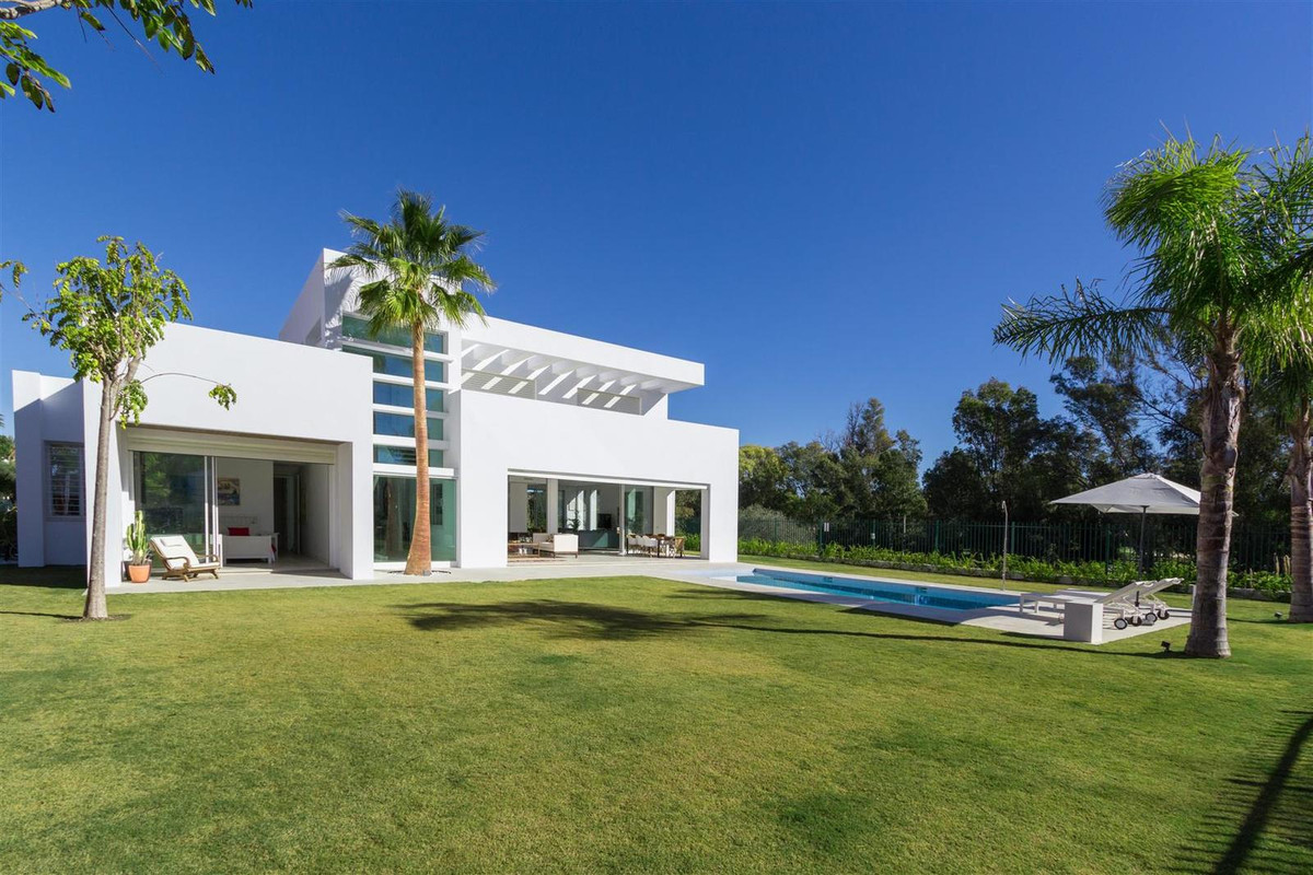 "Newly built contemporary style villa just a few minutes walk from the beach located in the ""Cas, Spain"
