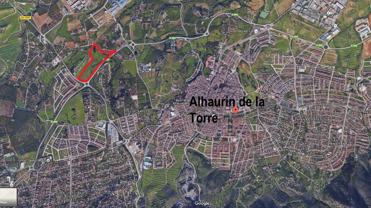 Plot  Land 													for sale  																			 in Alhaurín de la Torre
