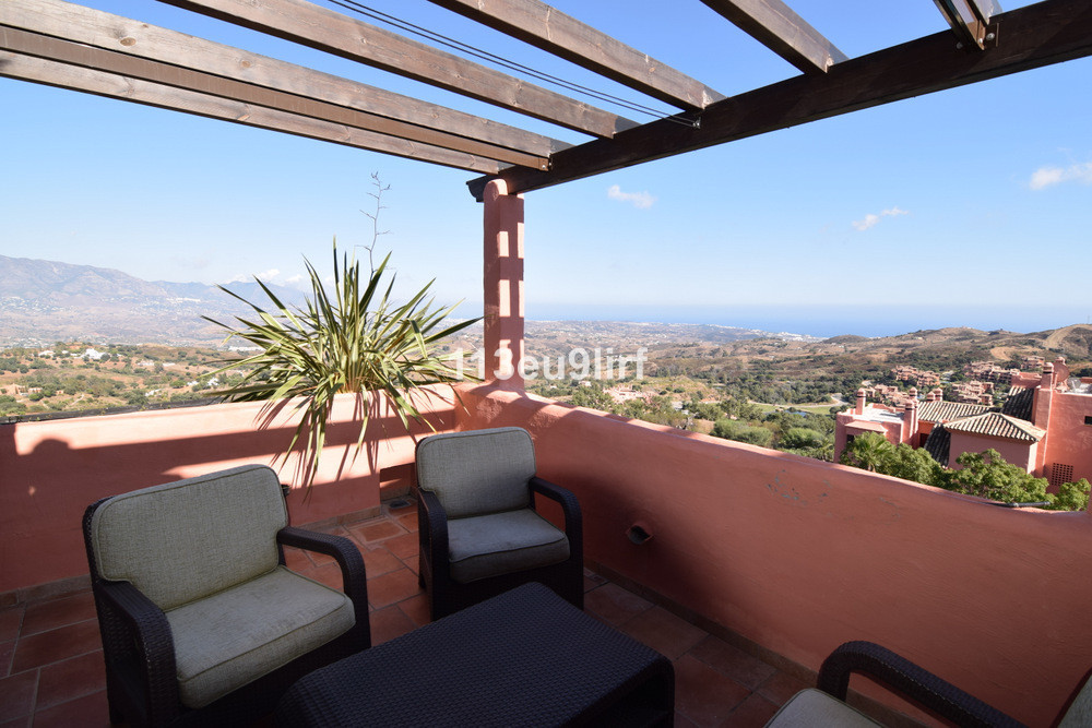 Duplex penthouse situated at the highest point of the gated urbanization of El Soto de Marbella, off, Spain