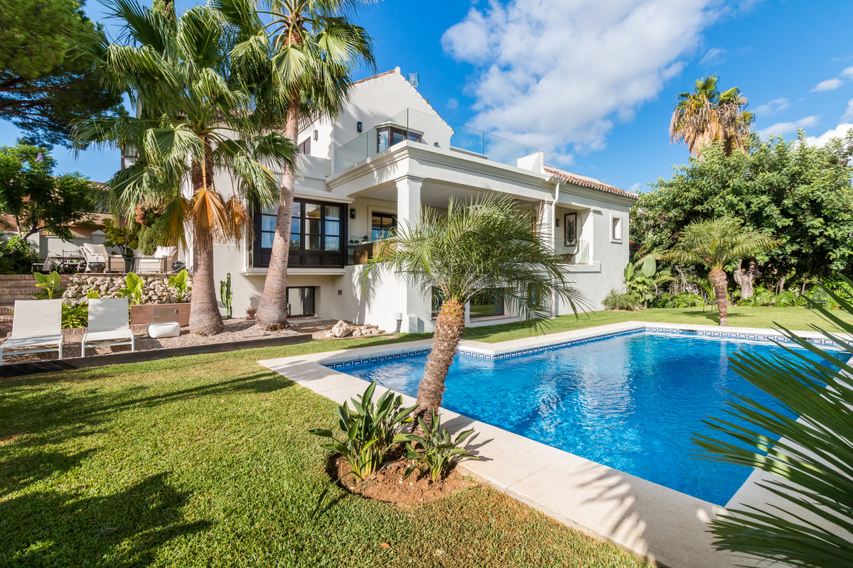 The full refurbishment of this 4 bedroom family villa in Guadalmina has just been completed, resulti,Spain