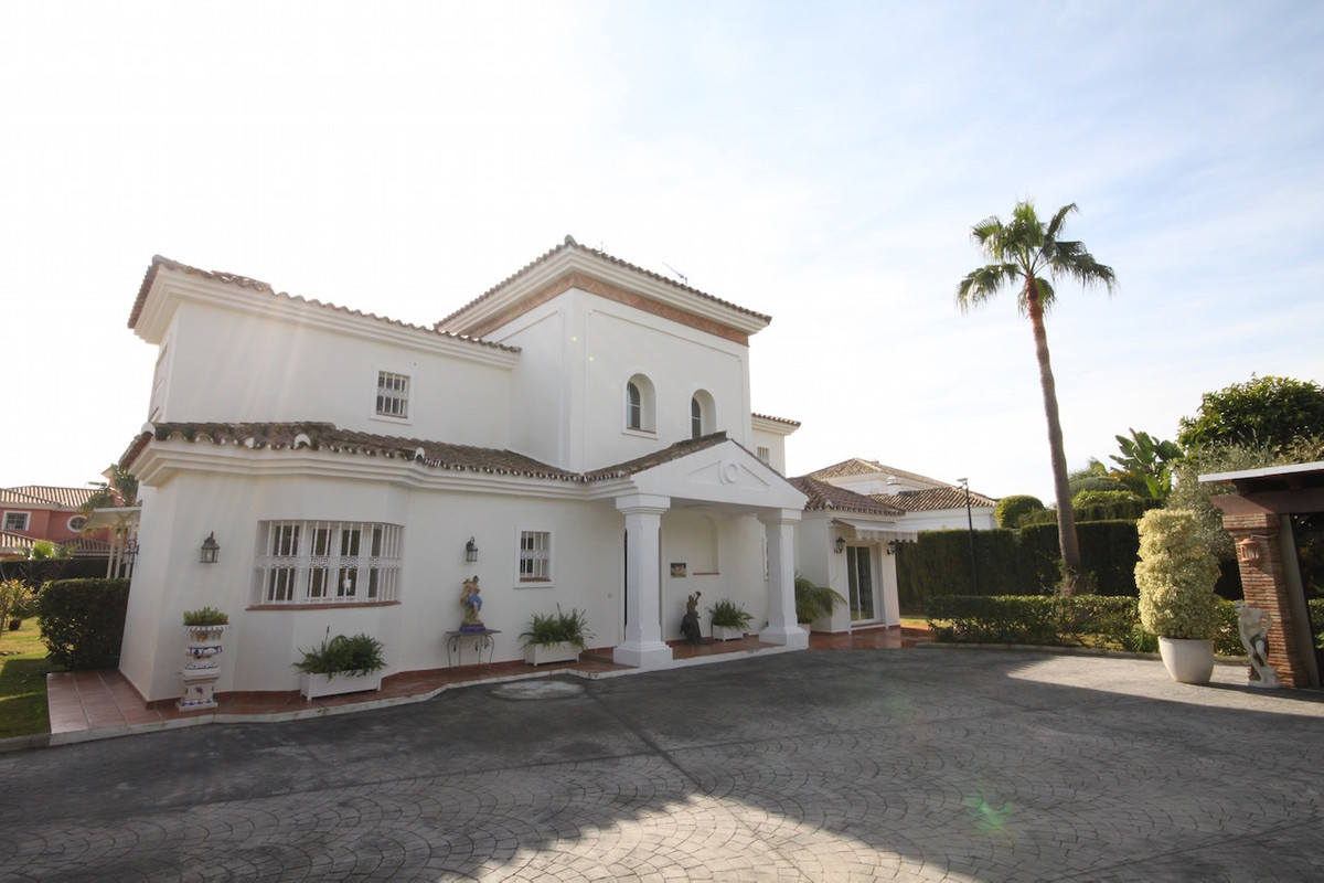 This exceptional family villa is located in Guadalmina Baja only a few minutes walk to the beach.  R, Spain