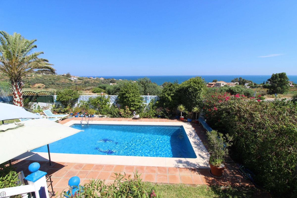 Detached villa with private pool and fantastic sea views.  This beautiful house consists of two bedr, Spain