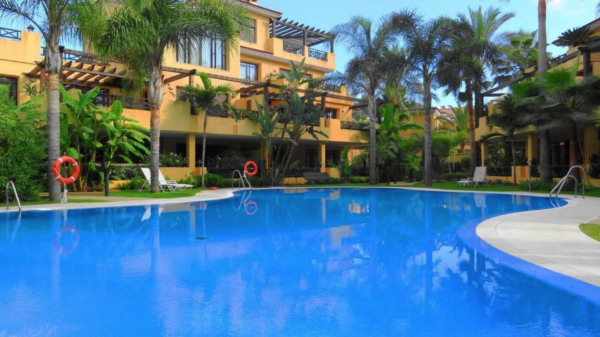Ground floor apartment for sale on the beachfront in Marbella (Malaga). It is distributed in 2 bedro,Spain