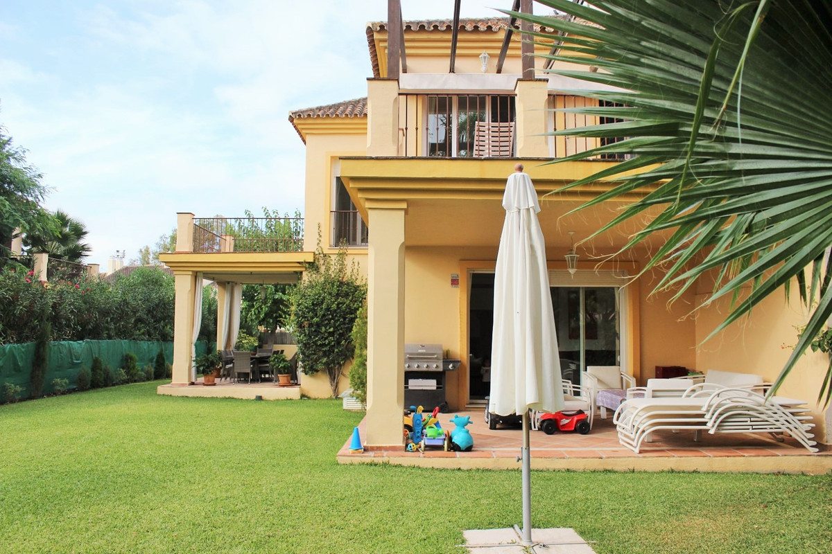 Frontline golf semi detached villa in Nueva Andalucia featuring spacious, modern accommodation. The , Spain