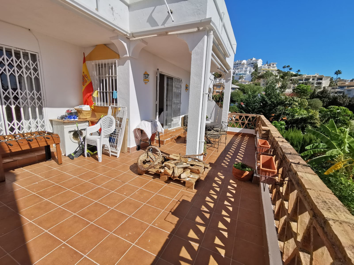 Cozy apartment with two bedrooms, a bathroom, toilet, fitted kitchen, living room with fireplace, an,Spain