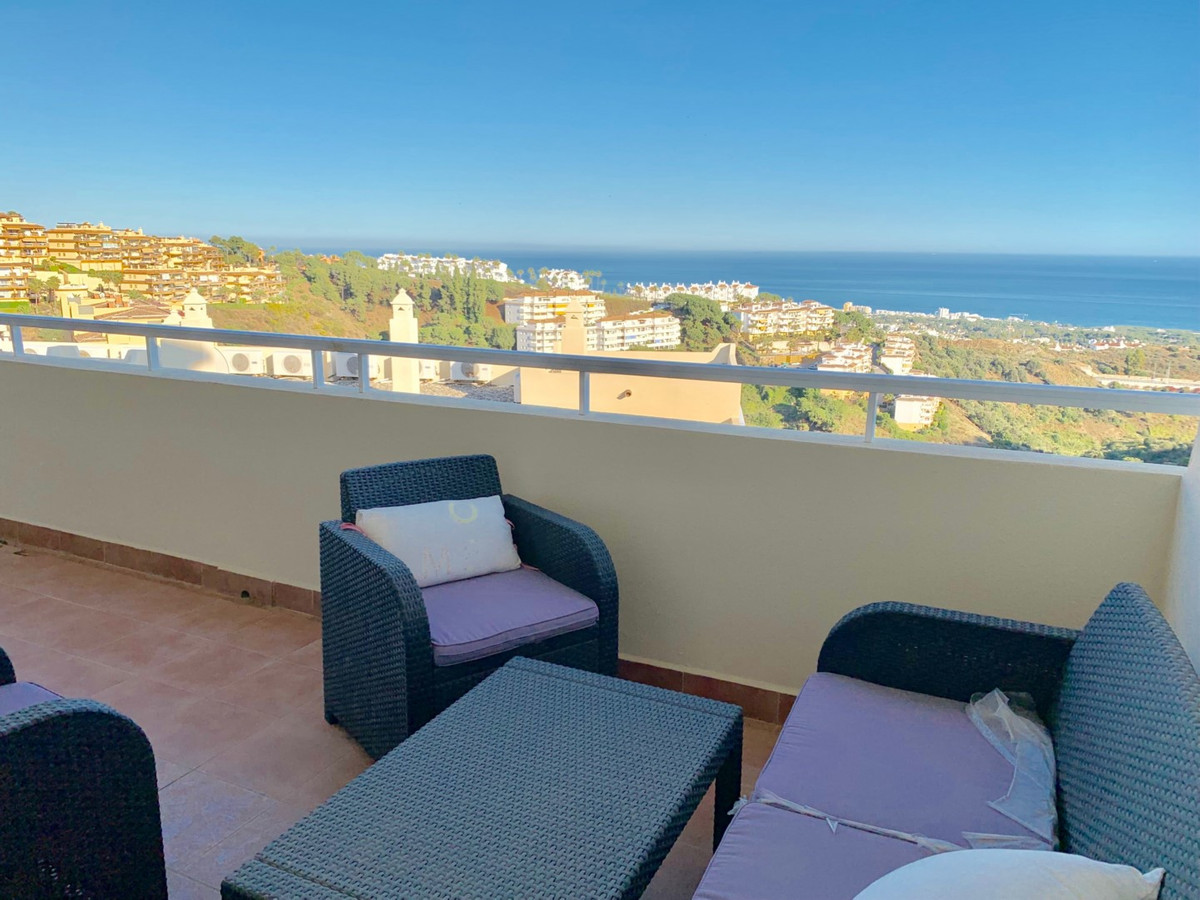 Band new 2 bedroom, 2 bath apartment with open sea views in a nice complex that offers communal gard, Spain