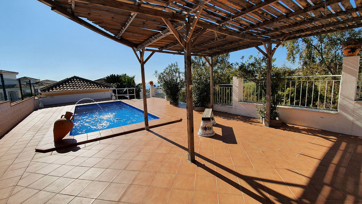 EXLUSIVITY! Nice house with pool and sea view for sale between Benalmadena Costa and Benalmadena Pue, Spain
