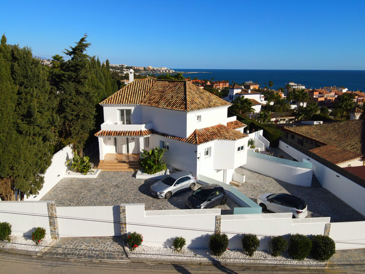 This stunning contemporary villa is located in Don Pedro, Estepona. Situated in a prime location, it, Spain