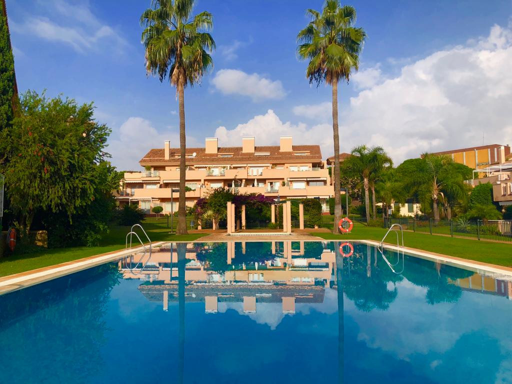 Beautiful south,south-east facing and very sunny duplex apartment in Los Jardines de Santa Maria Gol, Spain