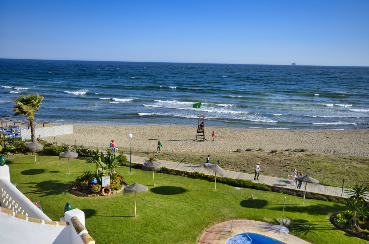 A simply stunning property situated on the beach front with panoramic views of the sea, beach garden Spain