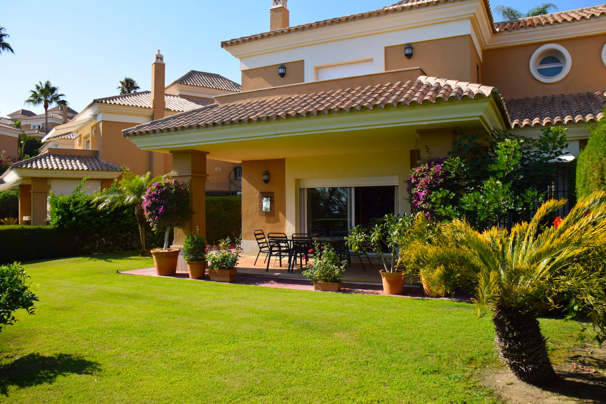 Fabulous south facing semi-detached villa with beautiful views of the golf course and the sea. Situa, Spain