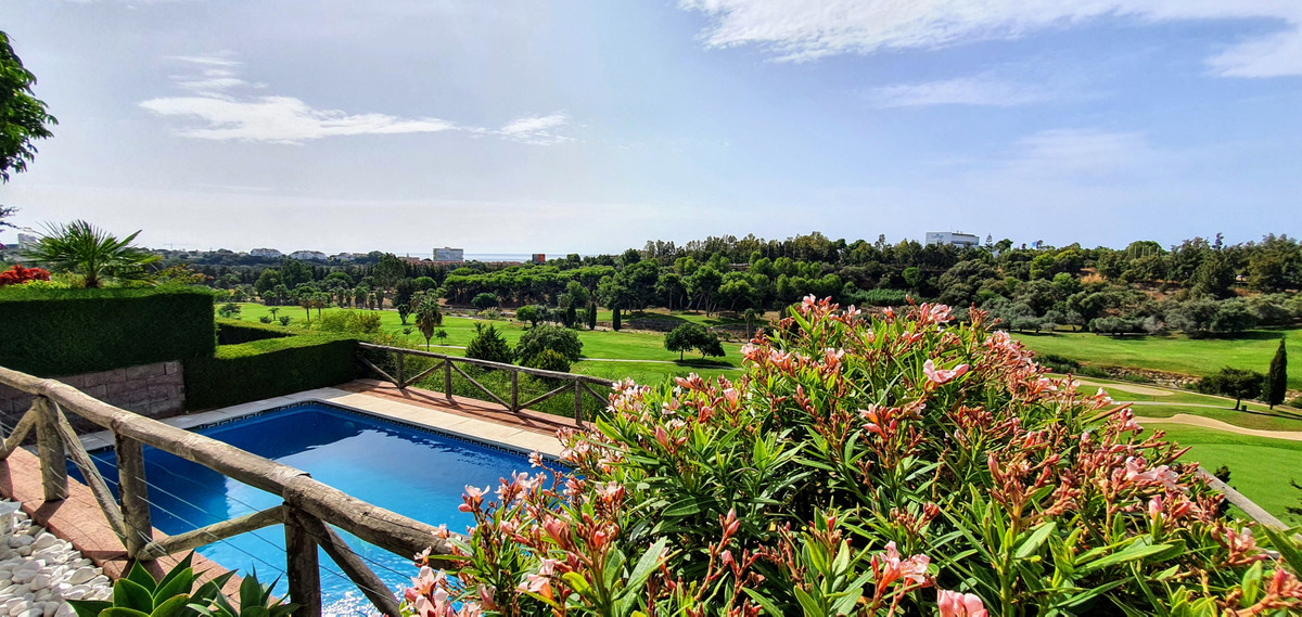 First line! Great corner semi-detached villa with fantastic views of the golf course and the sea. It, Spain