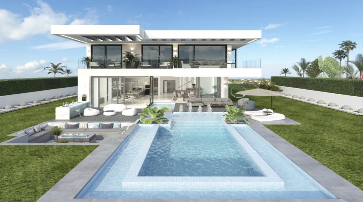 OFF-PLAN ECOLOGICAL LUXURY CONTEMPORARY VILLA FIRST LINE GOLF IN LA CALA GOLF only 28 minutes away f,Spain