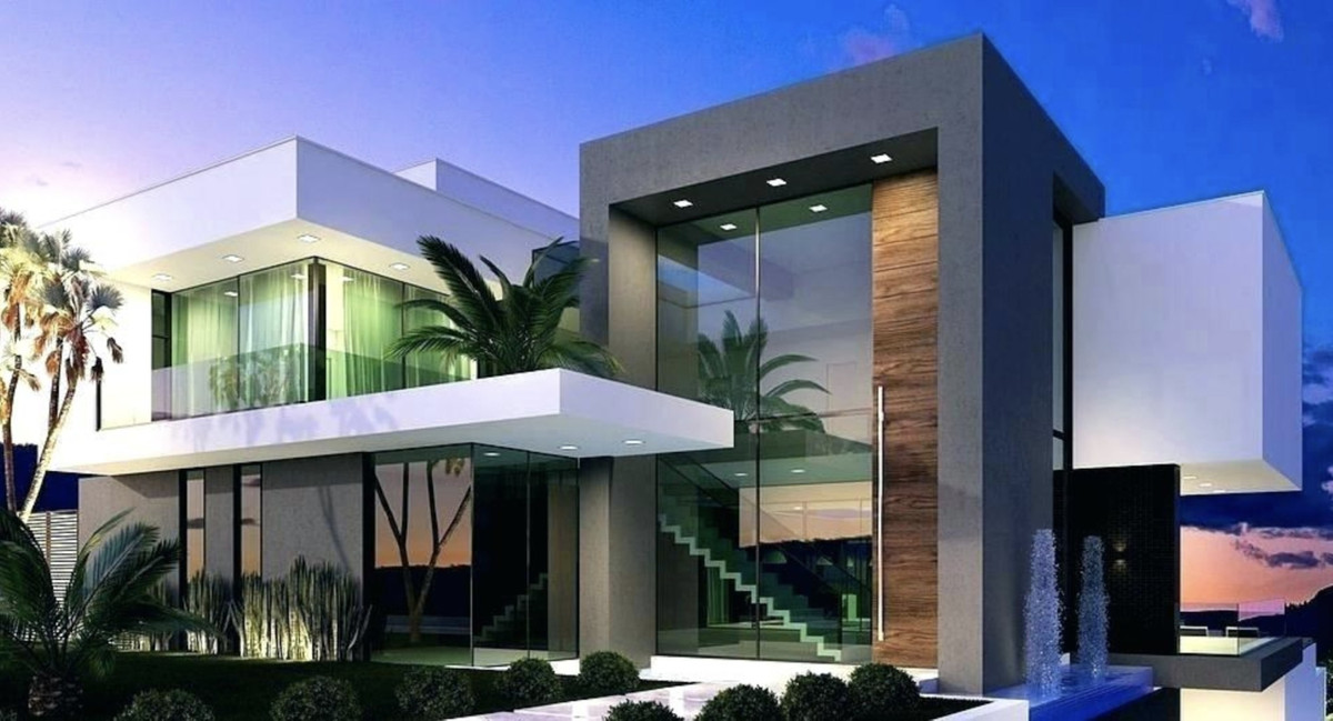 Off-plan contemporary villa in Calle Coral, Riviera del Sol, Mijas Costa, this property will be buil, Spain