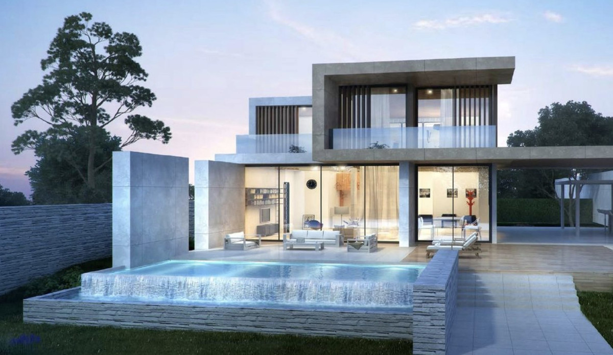 Off-plan contemporary villa in Valle Romano, Estepona with panoramic views of the mountains and the ,Spain