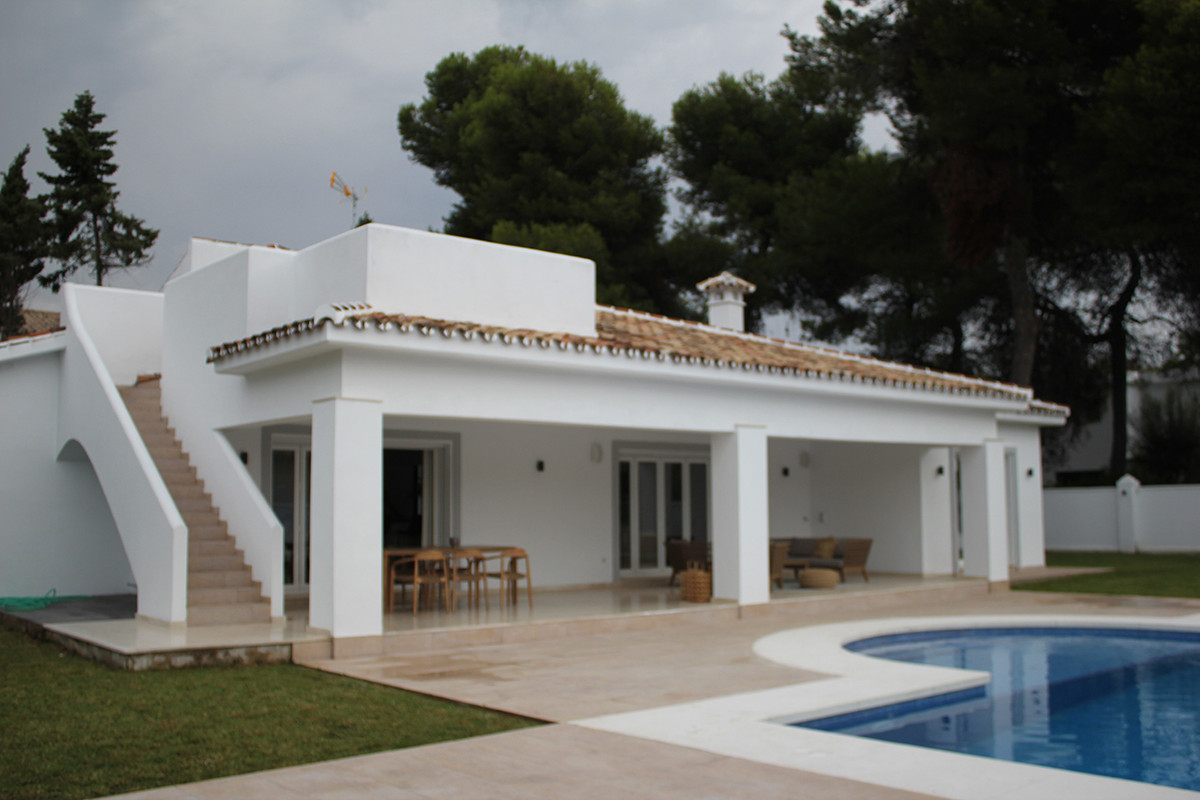 Charming villa just 150 metres from the beach, located in a quiet urbanization. The property is buil, Spain