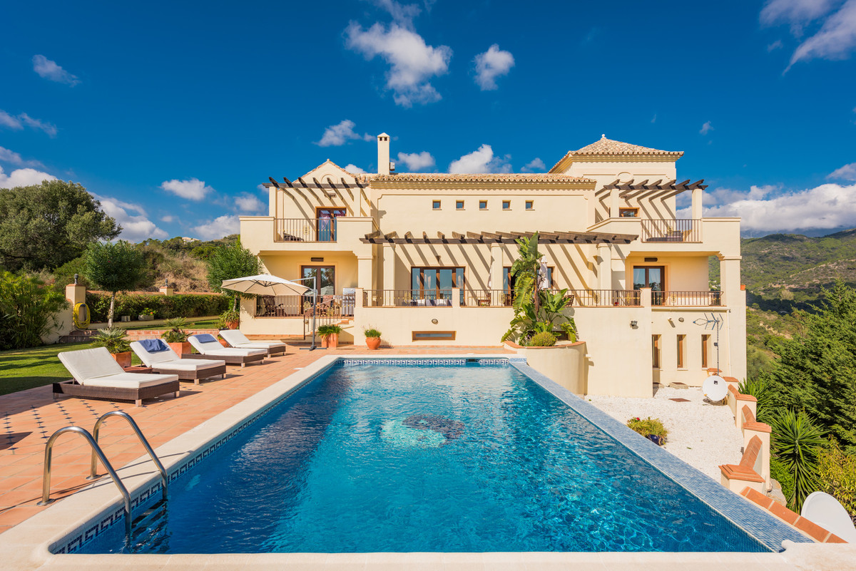 Spacious classical style quality villa located in a gated community of Benahavis. South facing with ,Spain