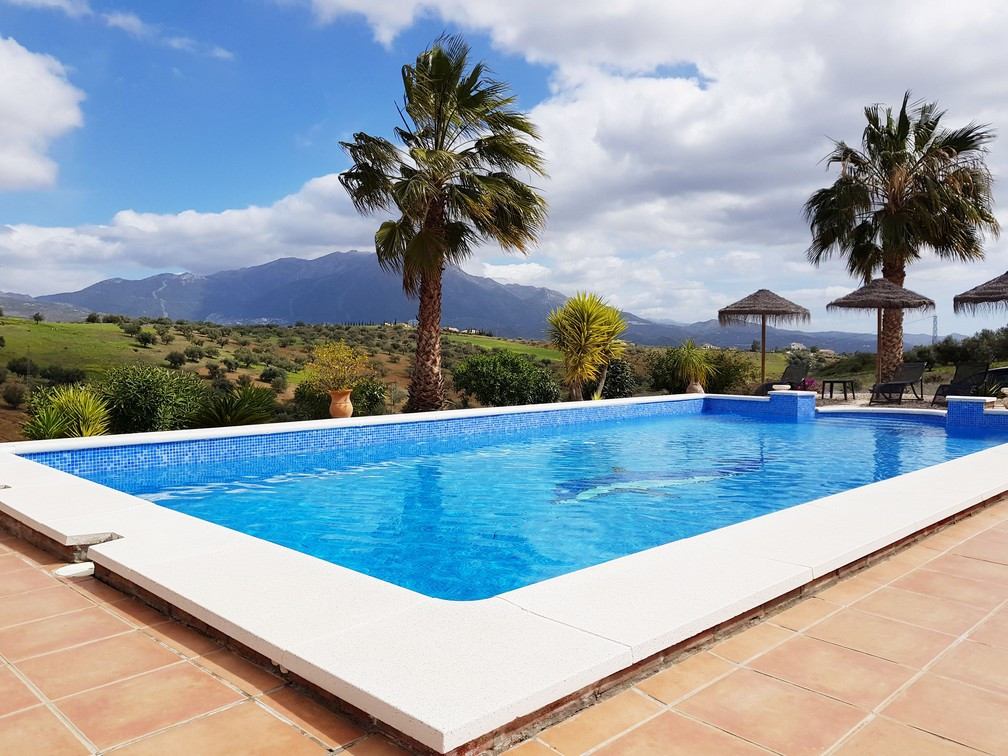 Wonderful independent luxury villa near the La Vinuela reservoir with a plot of 6,283m2 fully fenced, Spain