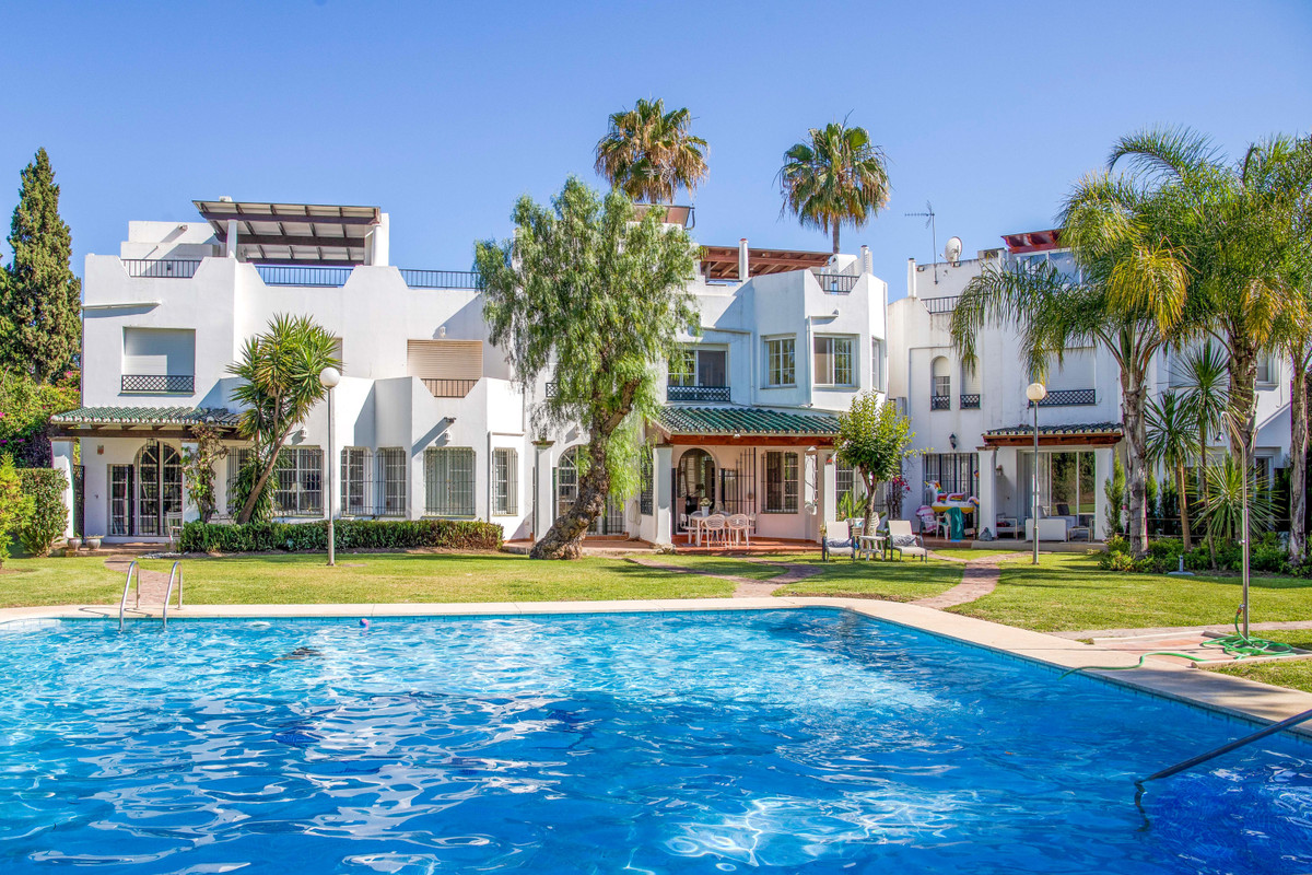 A lovely renovated 3 bedroomed townhouse at Sol Europa, Nueva Andalucia. Perfect location for both y,Spain