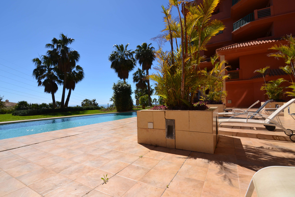 In the exclusive residential area Altos del Higueron. Large apartment on the ground floor with direc, Spain