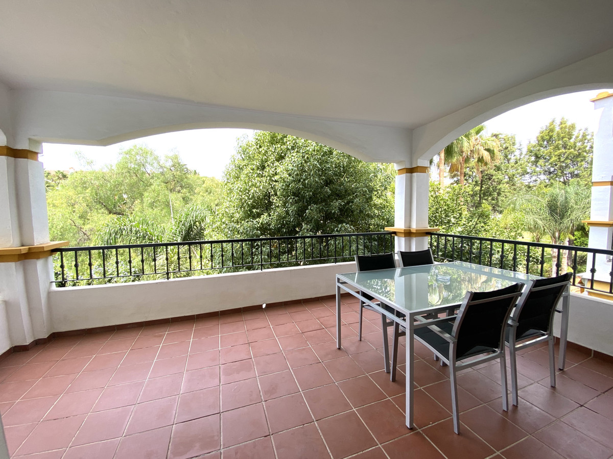 Apartment located in La Dama de Noche with south west terrace overlooking the gardens, functional an, Spain