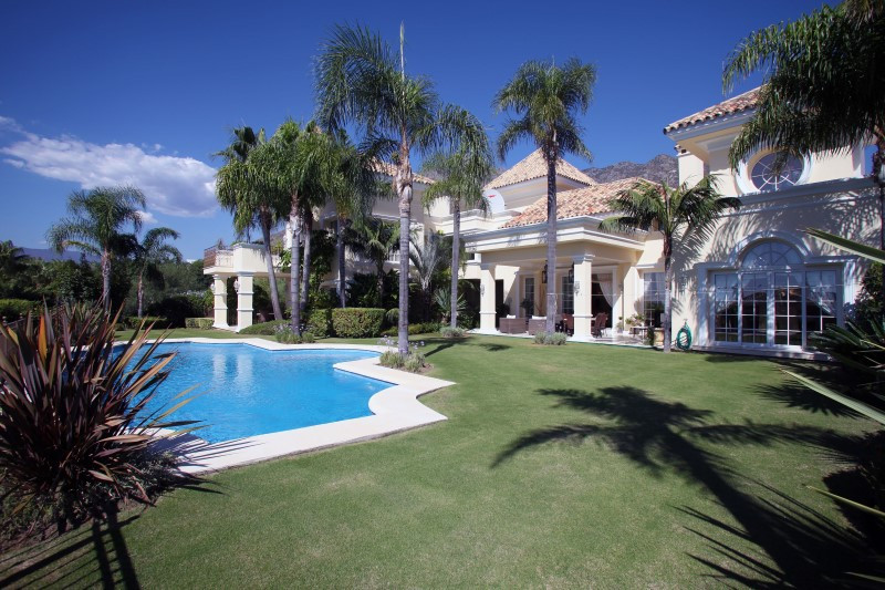 A most exquisite modern Villa located in the very best neighbourhood of Sierra Blanca, Marbella. The,Spain
