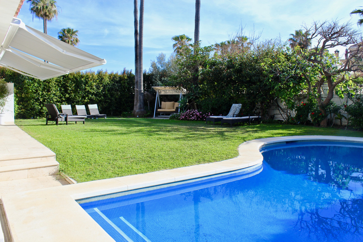 Beautiful and cosy villa situated second line beach on the Golden Mile. Recently refurbished, this v, Spain
