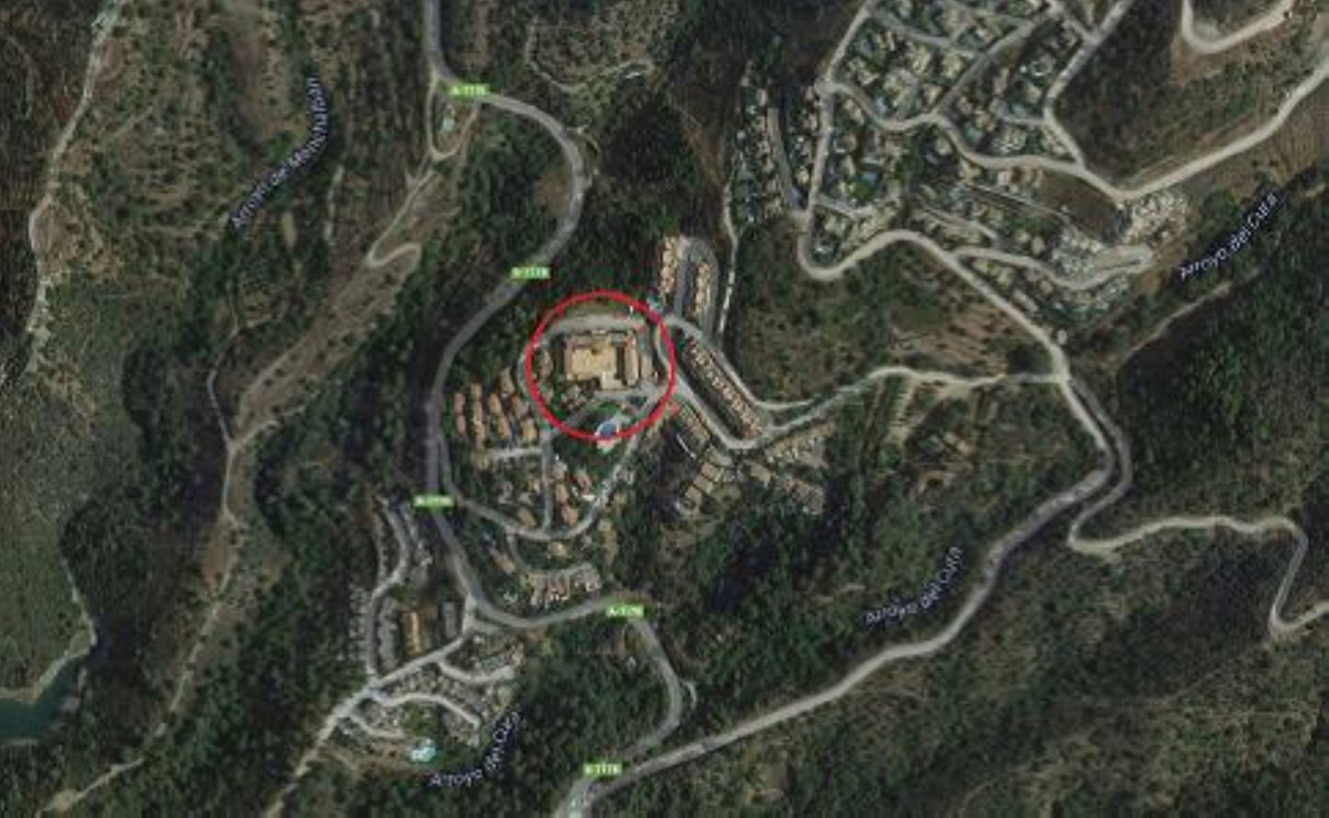 Plot with building works started for a hotel, in Cerros del Lago, Istan, Malaga. On the plot there i, Spain