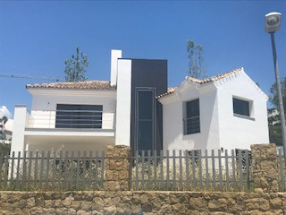 Villa in construction located in Benahavis. It has an area of 330 m² developed on two floors. The pe, Spain