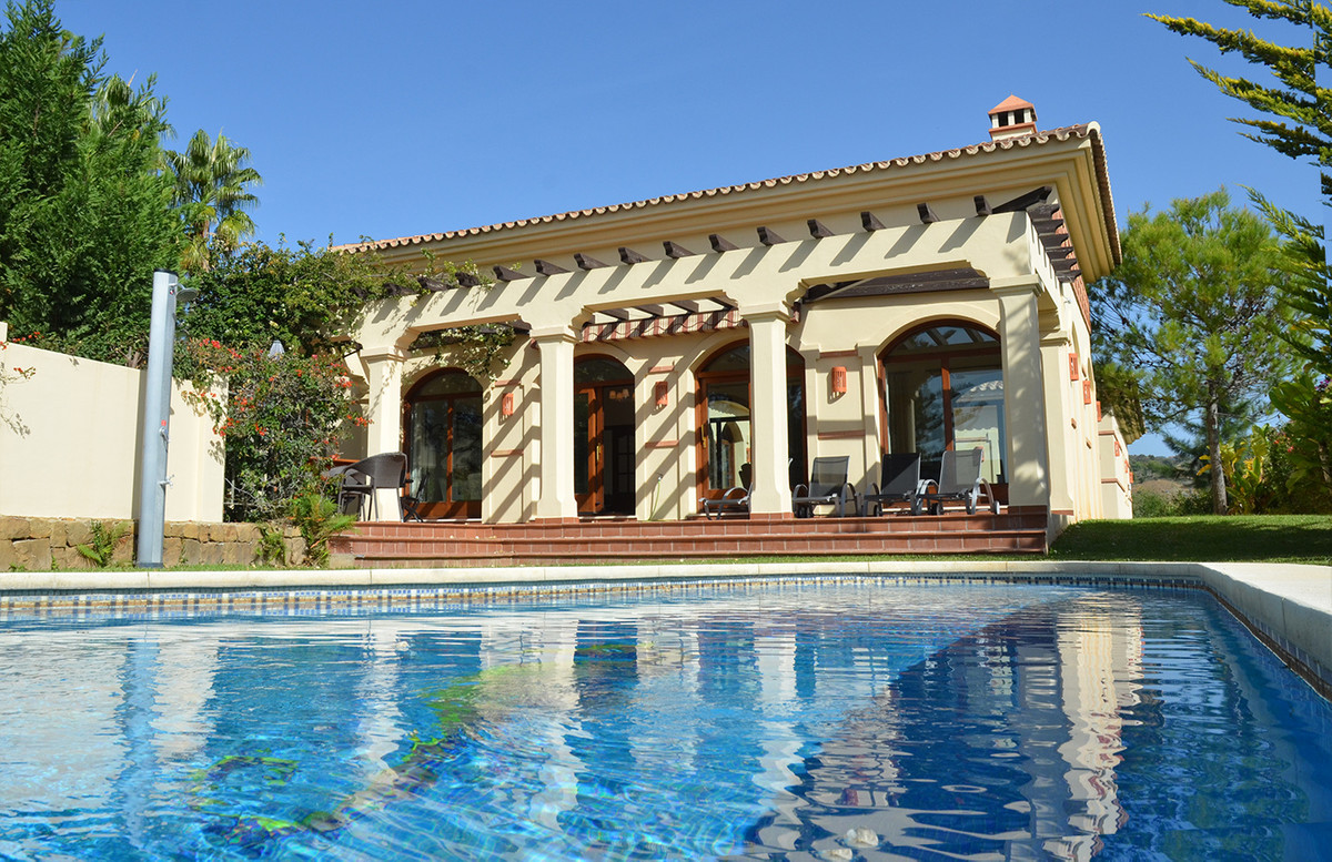 This new 5-bedroom villa built in a typical spanish style of a cortijo is located in the elevated pa,Spain
