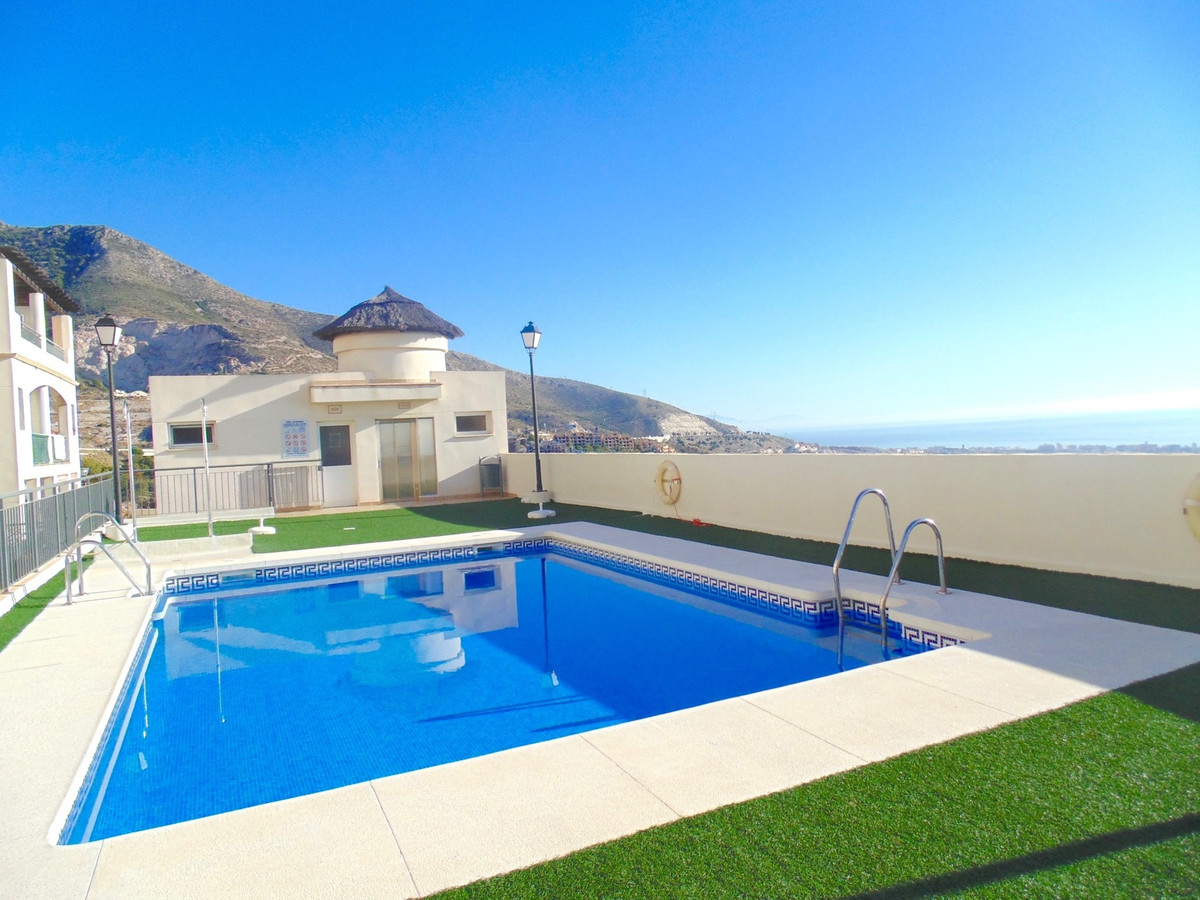 Modern secure ground floor apartment in show home condition in the lovely mountain village of BenalmSpain