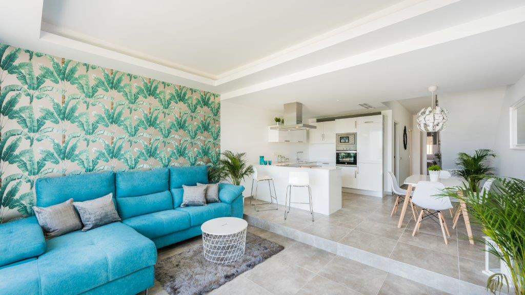 A large south facing, completely renovated, three bedroom luxury townhouse set in a delightful well ,Spain