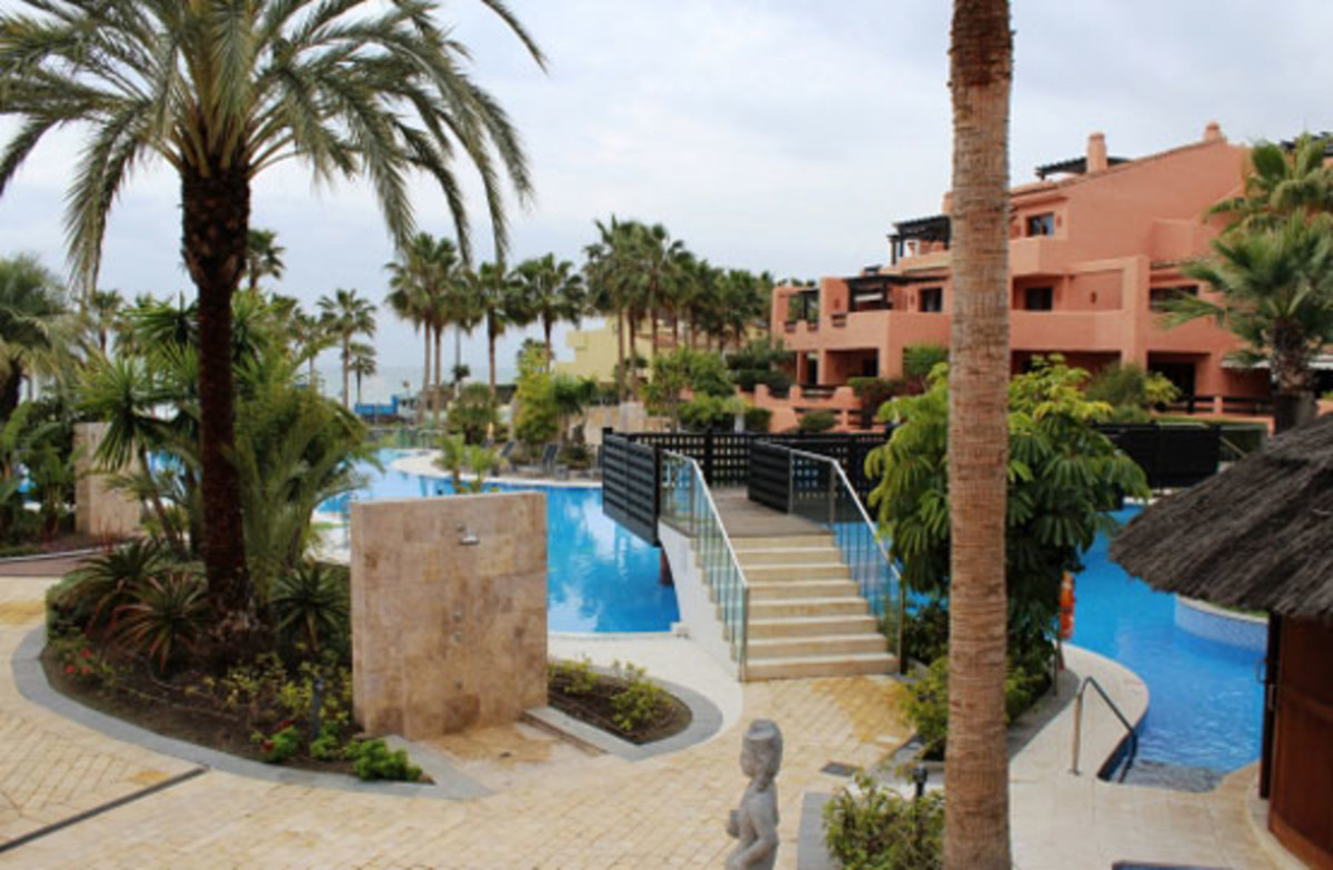Luxurious ground floor apartment, with a large terrace located on the beachfront in the best and mos,Spain