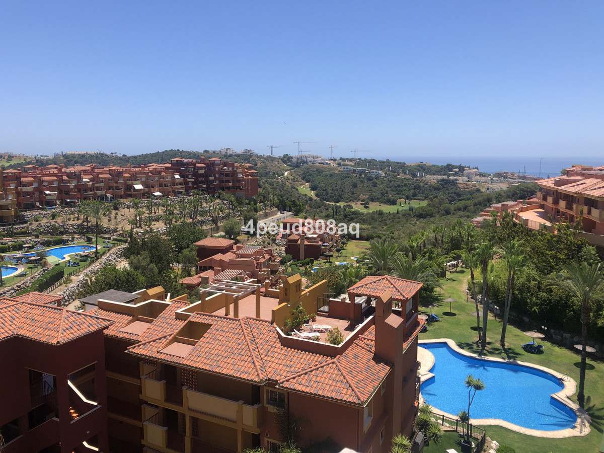 South facing fully furnished penthouse apartment with roof terrace and views to the sea overlooking , Spain