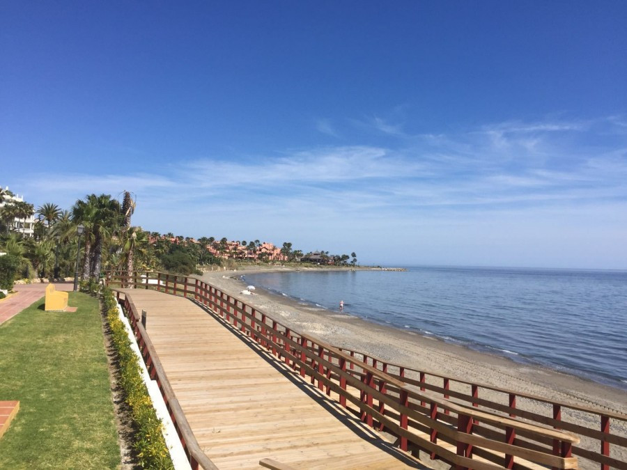 Plot beach side for apartments & commercial premises, New Golden Mile, Estepona  Located on the ,Spain