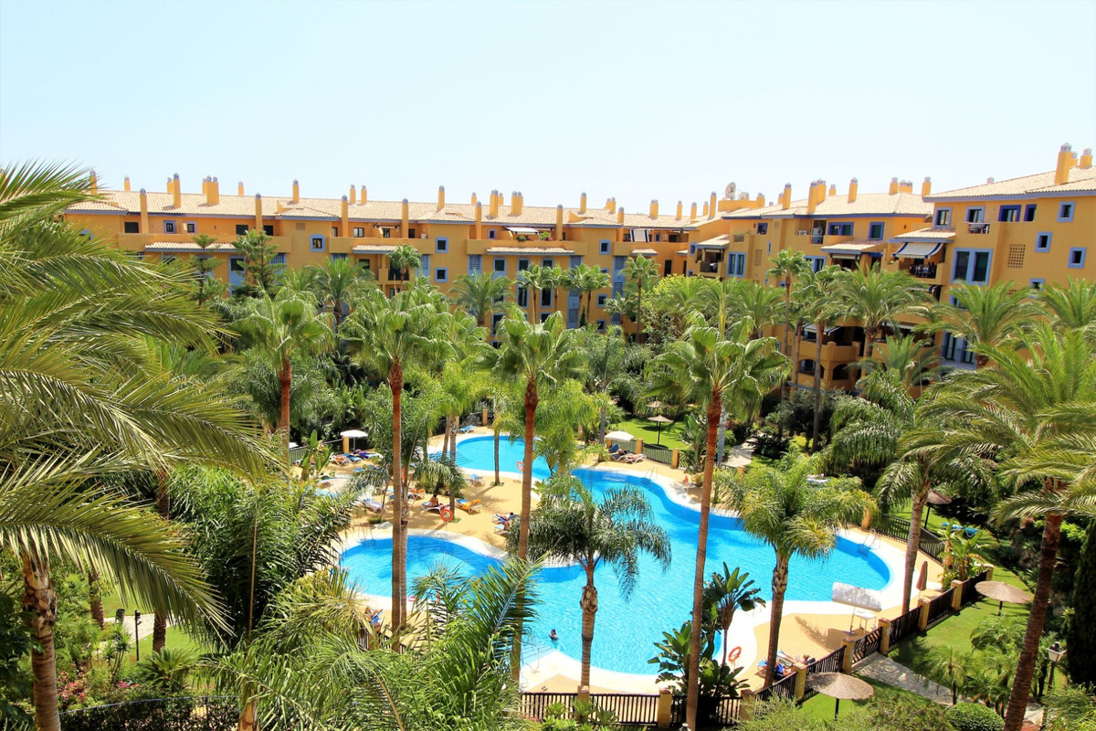 South facing 2 bedroom apartment in San Pedro Playa. The complex boasts its tropical gardens and swi,Spain