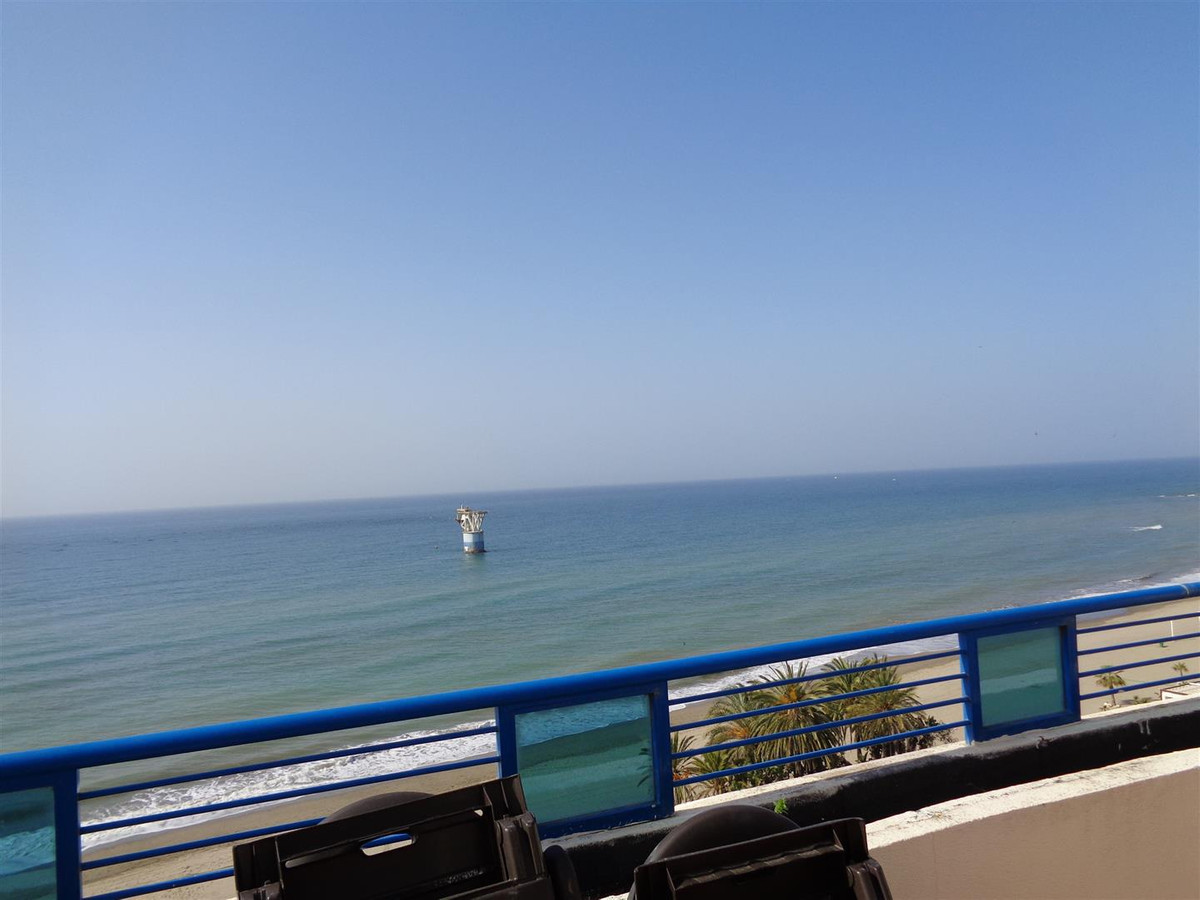 Fabulous 4 bedrooms 2 bath south facing penthouse FRONT line beach, unobstructed, panoramic sea view, Spain
